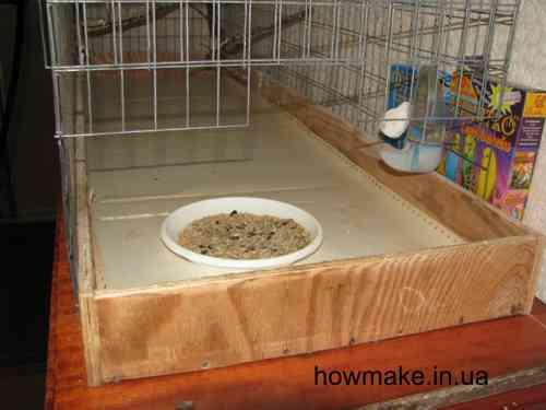 Клетка для попугая корыто дна