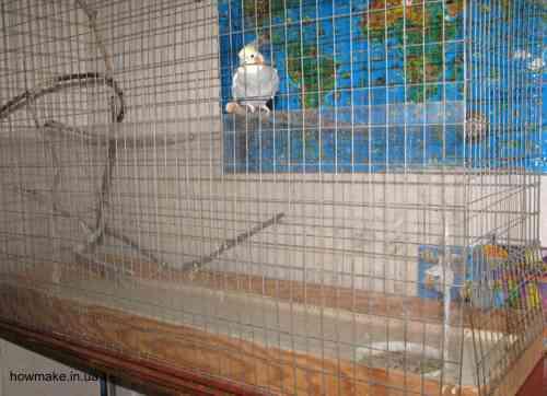 Клетка для попугая экран