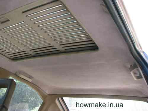 Сделать потолок в авто своими руками 91