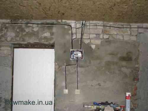 Установка розеток и выключателей в гараже