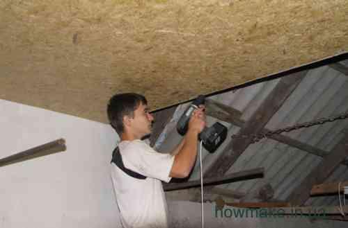 Потолок в гараже из чего сделать