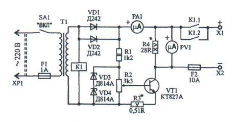Зарядно-восстановительное устройство схема