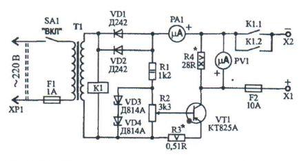 Зарядно-восстановительное устройство обратная схема